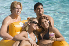 Happy Friends On Vacation Stock Photos
