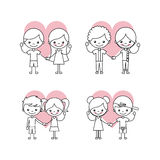 Happy friendship children icons set. Icon vector illustration design graphic Stock Photos