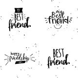 Happy Friendship day. Abstract Friendship day labels on a white background Stock Photography
