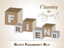 Happy Friendship Day background with colorful text Royalty Free Stock Photography