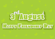 Happy Friendship Day background with colorful text Royalty Free Stock Image