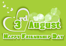Happy Friendship Day background with colorful text Royalty Free Stock Photo