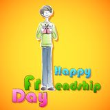 Happy Friendship Day background Royalty Free Stock Photography