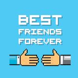 Happy Friendship day background with handshake Stock Photos