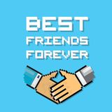 Happy Friendship day background with handshake Royalty Free Stock Images