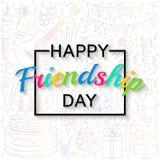Happy Friendship Day background Stock Photo