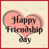 Happy friendship day card design Stock Photos