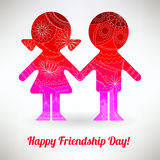 Happy friendship day card Stock Photo