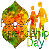 Happy Friendship Day. Colorful symbol and text Stock Photography