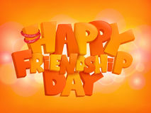 Happy friendship day design text elements on shiny background. Vector illustration Royalty Free Stock Photography