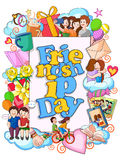 Happy Friendship Day doodle Royalty Free Stock Images