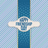 Happy Friendship Day festive Emblem with Text. Vector Illustration Royalty Free Stock Image