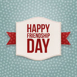 Happy Friendship Day festive Tag. Vector Illustration Royalty Free Stock Images