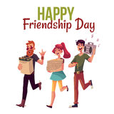 Happy friendship day greeting card Royalty Free Stock Images