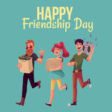 Happy friendship day greeting card Royalty Free Stock Photo
