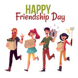 Happy friendship day greeting card Stock Photo