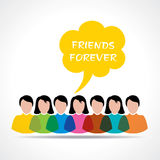Happy Friendship Day Greeting Royalty Free Stock Photos