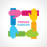 Happy Friendship Day Greeting Stock Image
