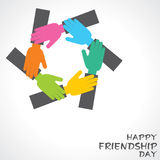 Happy Friendship Day Greeting Stock Photo