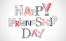 Happy Friendship Day Greetings. Illustration of friendship tagcloud on Happy Friendship Day Greetings royalty free illustration