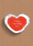 Happy friendship day, heart concept Royalty Free Stock Photography