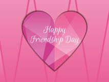 Happy friendship day. Heart with rays of light, beautiful background. Royalty Free Stock Photography
