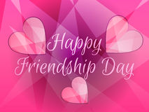 Happy friendship day. Heart with rays of light. Stock Photo
