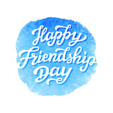 Happy Friendship Day lettering text Royalty Free Stock Photography