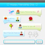 Happy Friendship Day message Royalty Free Stock Image
