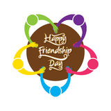 Happy friendship day poster design Stock Image