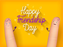 Happy friendship day poster Royalty Free Stock Photo