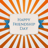 Happy Friendship Day realistic Holiday Label Royalty Free Stock Image