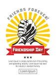 Happy Friendship Day sticker vector illustration