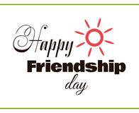 Happy Friendship Day With Sun Royalty Free Stock Images