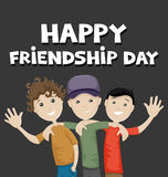 Happy Friendship Day. Vector illustration of friends celebrating Friendship Day Royalty Free Stock Photo