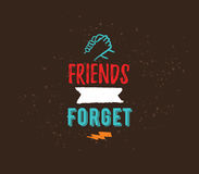 Happy Friendship day vector typographic design. Royalty Free Stock Photos