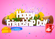 Happy Friendship Day wallpaper background Royalty Free Stock Images