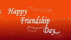 Happy friendship day wishing clip vector illustration