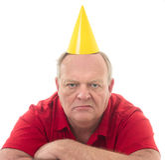 Happy Friggin Birthday royalty free stock image