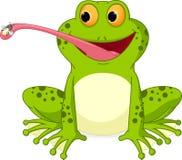 Free Happy Frog Cartoon Catching Fly Royalty Free Stock Photo - 49210615