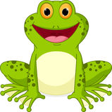 Happy Frog cartoon Stock Image