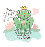 Happy frog. Cute image. Royalty Free Stock Photos