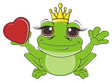 Happy frog with heart Royalty Free Stock Photo