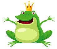Happy frog prince Royalty Free Stock Images