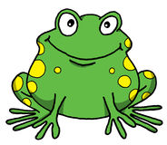 Happy Frog. Vector cartoon of a happy frog Royalty Free Stock Photography