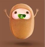Happy Fruit cartoon I`m kiwi Royalty Free Stock Image