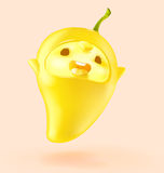 Happy Fruit cartoon I`m mango Stock Photo