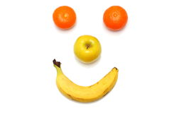 Happy fruit clown Stock Photography