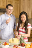 Happy fruit couple Stock Image