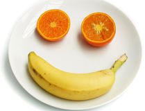 Happy Fruit Face Royalty Free Stock Image